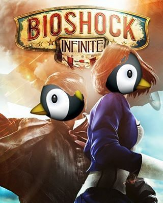 Cover Improvement #penguin #oldpenguinemoji #bioshock #bioshockinfinite #game #videogame #gaming #gamer #xbox #xboxone #ps4 #ps3 #playstation #pc #steam #photoshop #art #poster #animal #cute http://xboxpsp.com/ipost/1493465807077220724/?code=BS52z0jB6F0