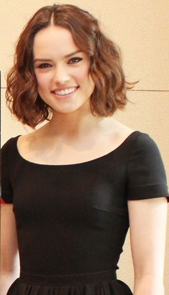 Daisy Ridley (April 10, 1992) British actress, o.a. known from the movie 'Star Wars: Episode VII: The force awakens' from 2015.