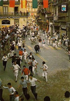 What Exactly Is Pamplona's Famed Running of the Bulls?: Pamplona Running of the Bulls in the 1970s