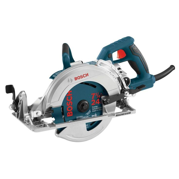 Bosch 15 Amp Corded Electric 7-1/4 in. Worm Drive Circular Saw with Carbide Blade