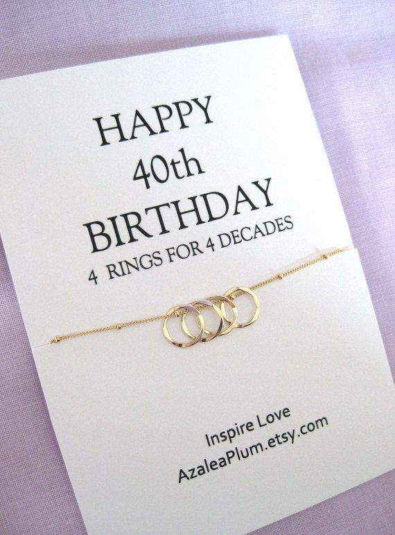 40th BIRTHDAY Ideas For Women Birthday Gift Sister Her Sisters Necklace