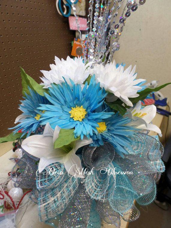 deco mesh 8 inch memorial vase insert cemetery