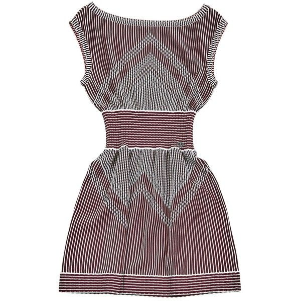 Pre-owned Chanel Mini Dress ($505) ❤ liked on Polyvore featuring dresses, multicolour, colorful cocktail dress, multi color dress, multi-color dresses, chanel dresses and multi print dress