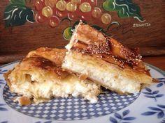 Τυρόπιτα με κρέμα σιμιγδαλιού (σα μπουγάτσα με τυρί)