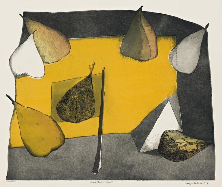George Baldessin(Italian/Australian, 1939-1978)  Pears(Yellow version)1972  Colour etching