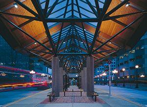 Glulam used in Bellevue bus terminal