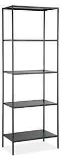 Slim Modern Natural Steel Bookcases - Modern Bookcases & Shelves - Modern Living Room Furniture - Room & Board