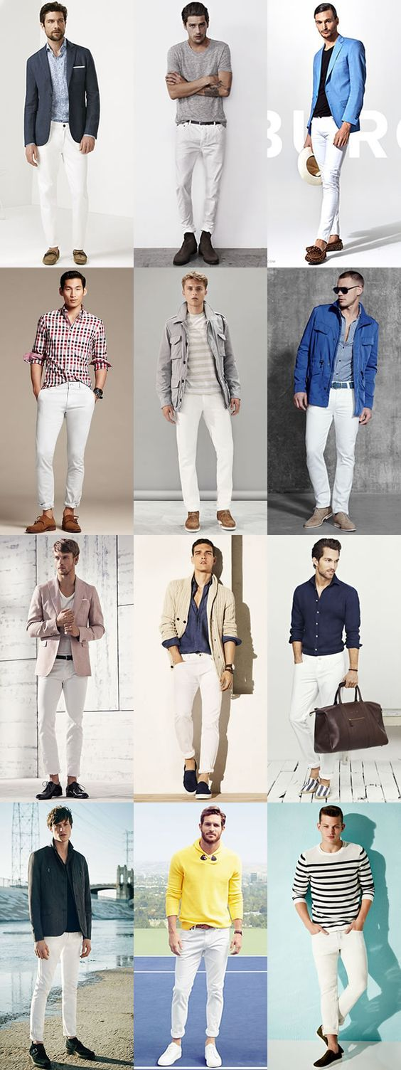 ホワイトジーンズ,着こなし,メンズ,コーディネート