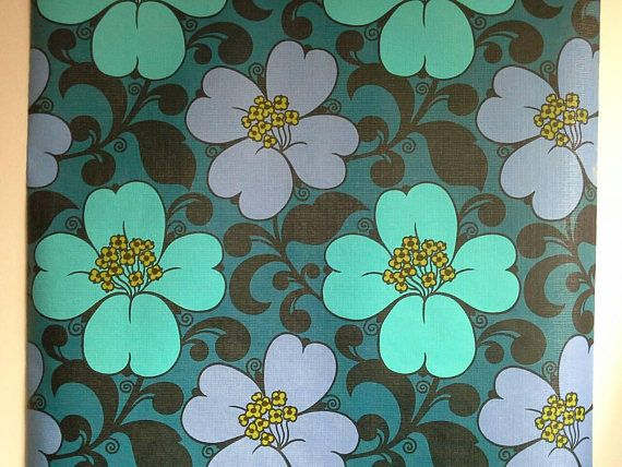 Check out this item in my Etsy shop https://www.etsy.com/uk/listing/581963286/teal-vintage-wallpaper-turquoise-mauve