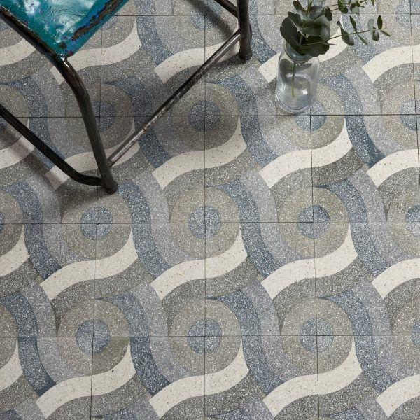 Monza pattern terrazzo tile 20 x 20 x 1 6cm