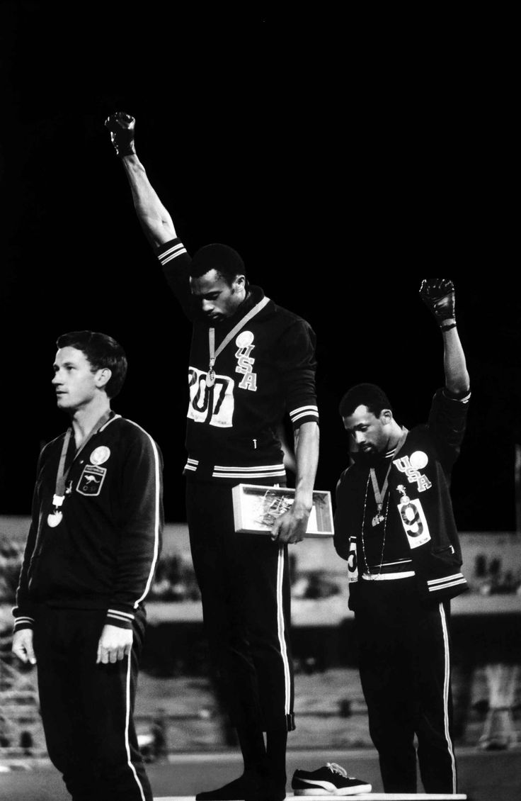 "1968. Black Power Salute by John Dominis     ""We were trying to wake the country up and wake the world up too.""  John Carlos"