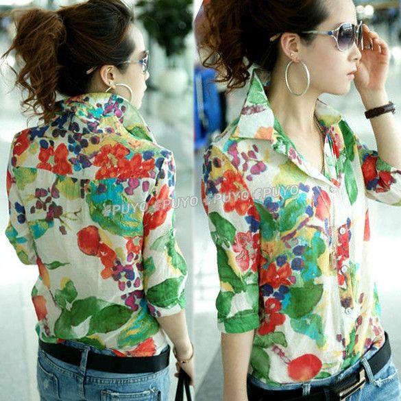 Nuevas mujeres con estilo Retro flor del hilo Halter patrón camisa delgada blusa Retro Tops envío gratuito 13498 en Blusas y Camisas de Moda y Complementos Mujer en AliExpress.com | Alibaba Group