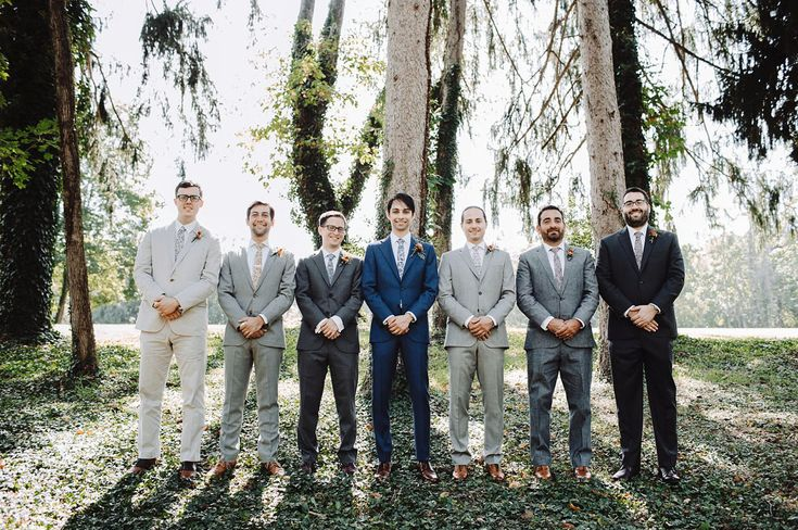 Handmade Pennsylvania Wedding | Mismatched Groomsmen