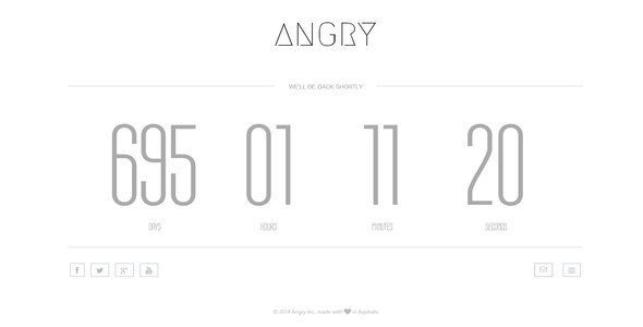 Angry | Responsive Coming Soon Landing Page