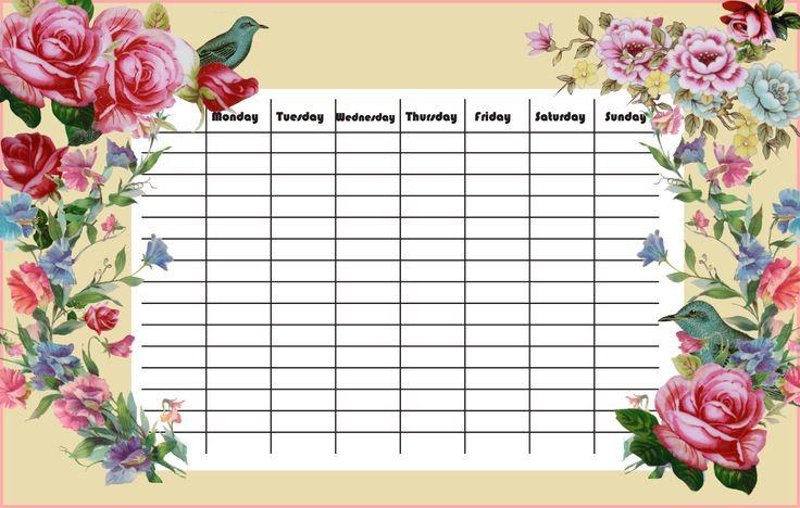 FREE printable joyous weekly planner in vintage style