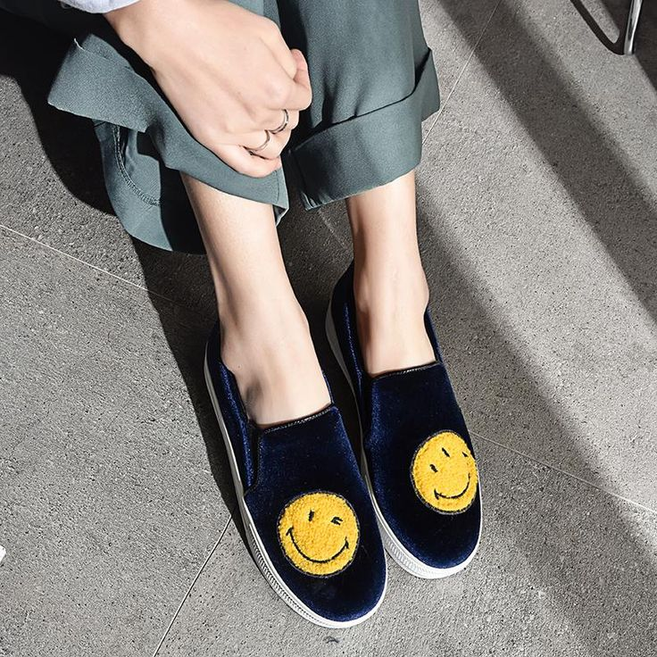 Women's Cute Round Toe Platform Lace Up Smiley Face Increased Within Loafers Shoes