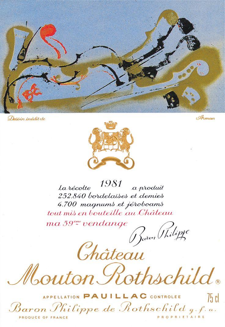 Chateau Mouton Rothschild 1981, by Arman