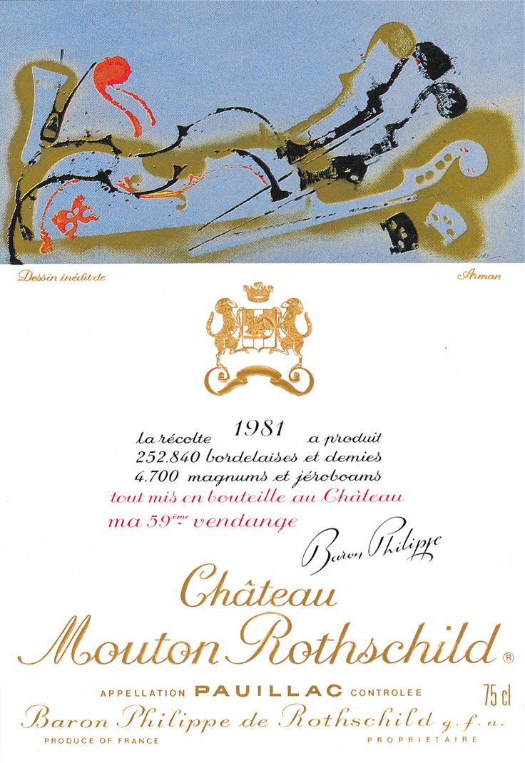 Chateau Mouton Rothschild 1981, by Arman