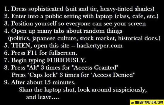 Trolling like a hacker…