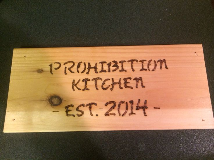 Little sign I made for my kitchen. Going to drill hole and hang it with kitchen twine