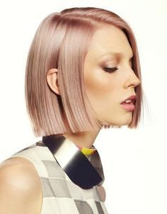 One Length Bob Pinky Beige Very Blunt Hairstyle Hair Do S