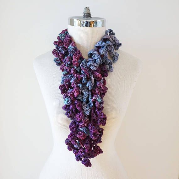 Purple Lace Scarf, Abstract Edition Scarf in various shades of purple, pink with a hint of blue hand painted merino wool, READY to SHIP