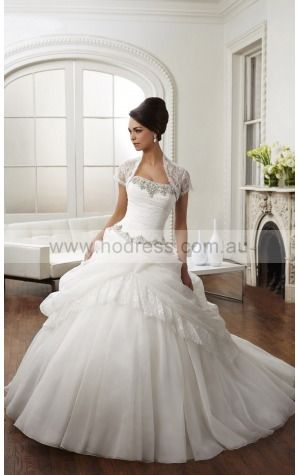 Lace-up Ball Gown Natural Strapless Wedding Dresses gycf1036--Hodress