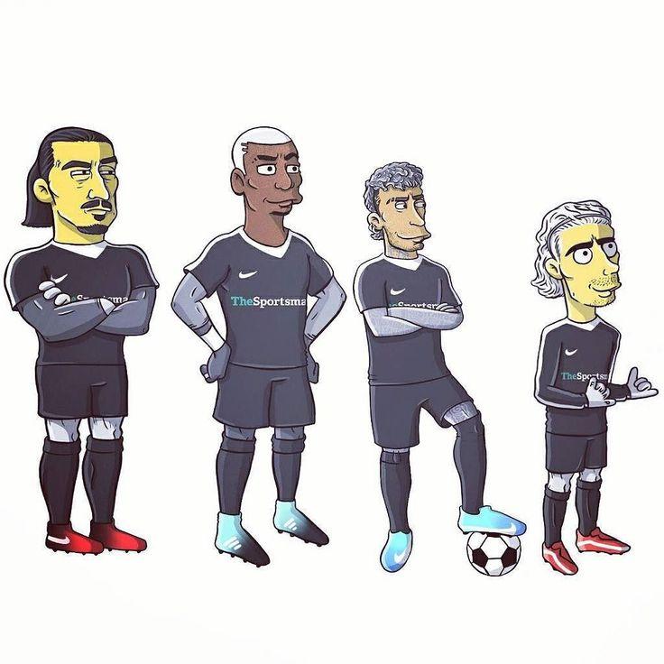 Decent outfield proposition for Springfield United 5-a-side team. Really nice bit of work by Federico Manasse for the @thesportsmancom. : @federicomanasse  #federicomanasse #thesportsman #zlatanibrahimovic #ibra #ibrahimovic #paulpogba #pogba #pogboom #neymar #neymarjr #antoinegriezmann #Griezmann #simpsons #thesimpsons #thesimpsonsedit #cartoon #illustration  #football #soccer #futbol #futebol #calcio #soccerstyle #footballfashion #kitcouture #footballculture #FlatBackFour