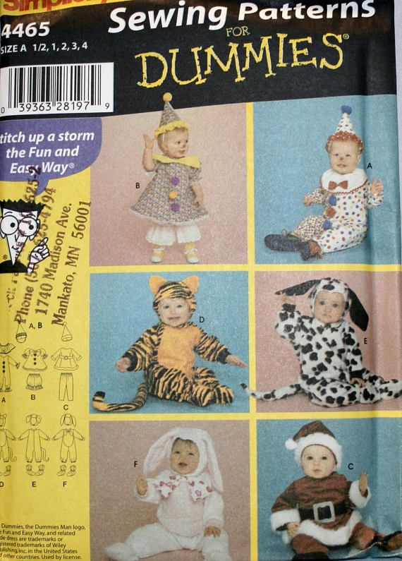 toddlers halloween costume sewing pattern simplicity 4465