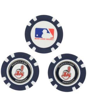Team Golf Cleveland Indians 3-Pack Poker Chip Golf Markers - Blue