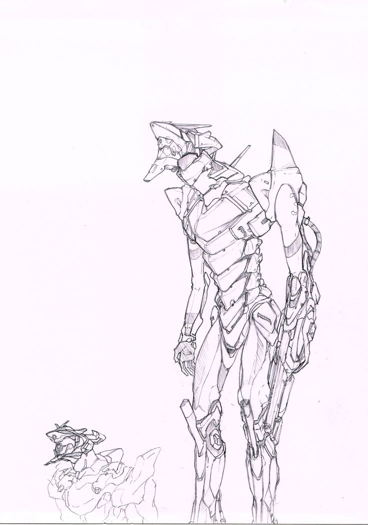 evangelion sketches by Bintang M