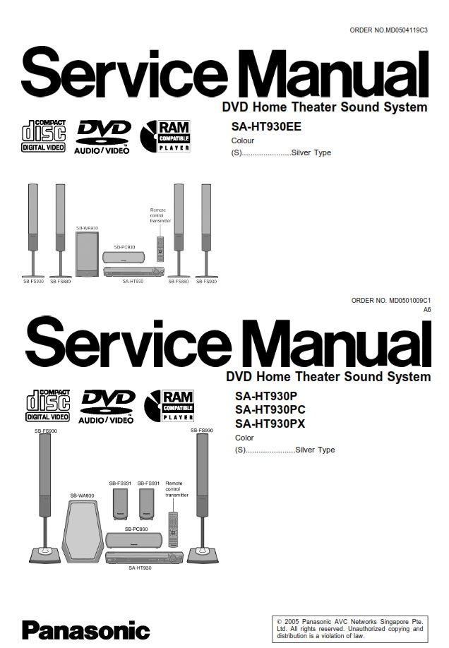 Panasonic Sc Ht930 Home Theater System Service Manual And Repair Guide Repair Guide Home Theater System Home Cinema Systems