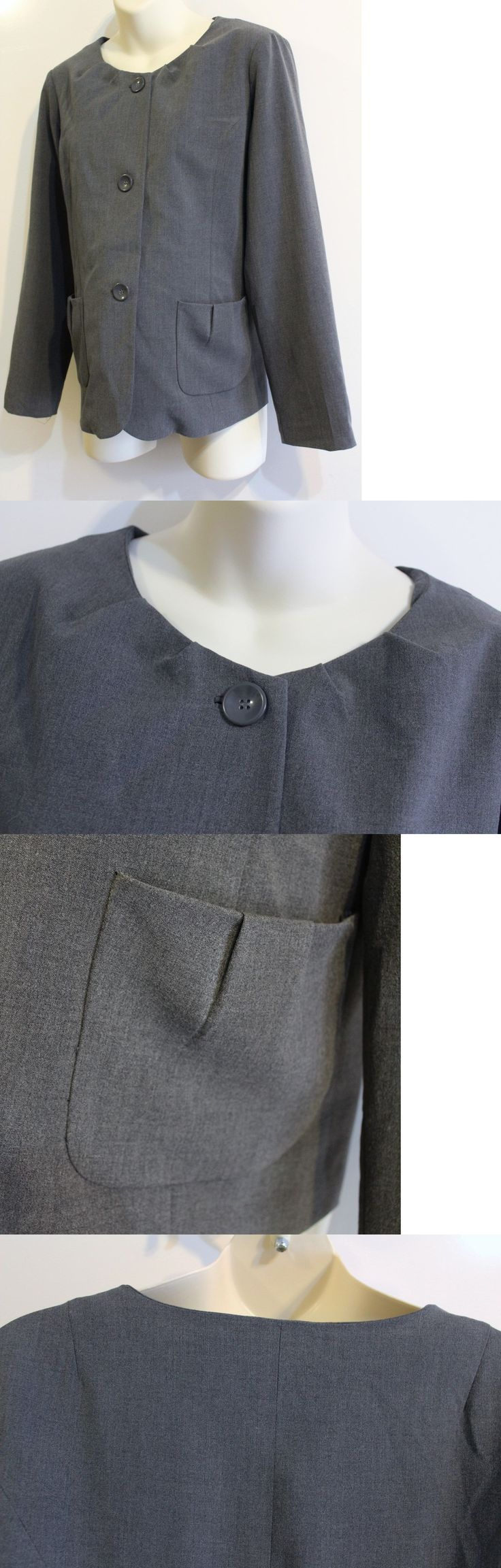 Suits and Blazers 108898: Tomorrow S Mother Maternity Suit Jacket Blazer Coat Size M Gray Career New -> BUY IT NOW ONLY: $42.75 on eBay!