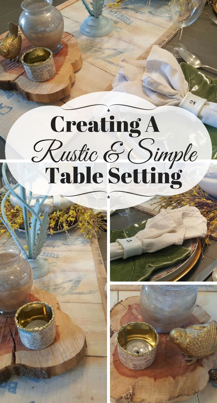 Creating a rustic and simple table setting