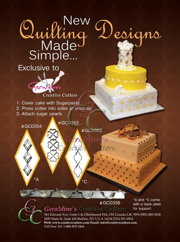 New Quilting Design Made Simple! give your cakes the elegant touch they need! #cake #baking #quiltingmarkers #diamonds #creativecutters Cake made by Geraldine Randlesome from Creative Cutters.