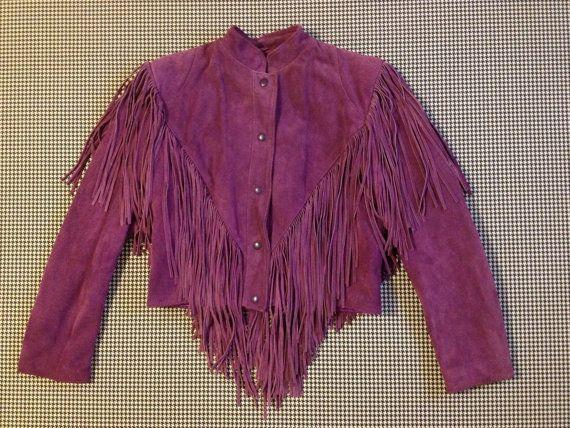 anni ' 80 viola pelle scamosciata giacca di di brinkdwellers