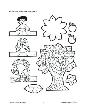 Adam and Eve Craft 아담과 이브 만들기 http://www.christianpreschoolprintables.com/AdamandEve.html -Adam and Eve Craft 아담과 이브 만들