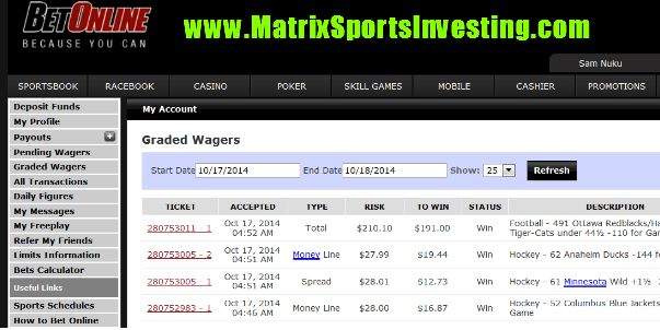 NHL season 2014-15 is here at MSI! How'd we go yesterday? 3-0 NHL sport betting system anybody?