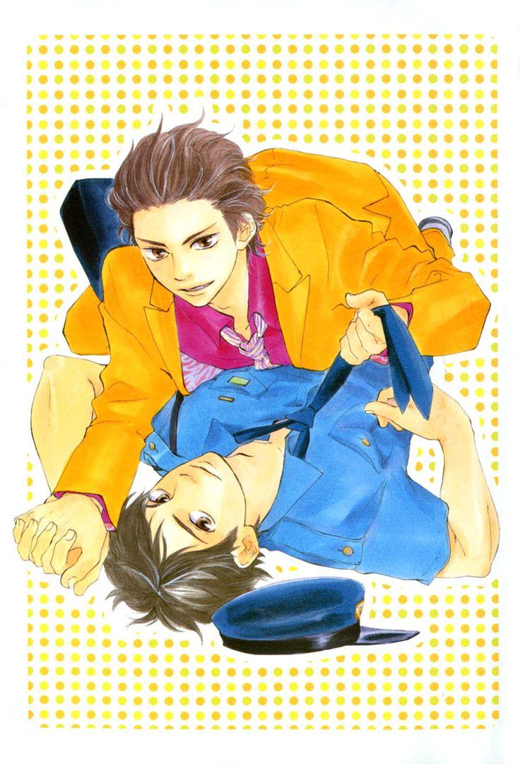 Yaoi ~ Honto Yajuu by Kotetsuko YAMAMOTO ~~~ Aki the Yakuza atop Ueda-san the Cop :: Adorable series!