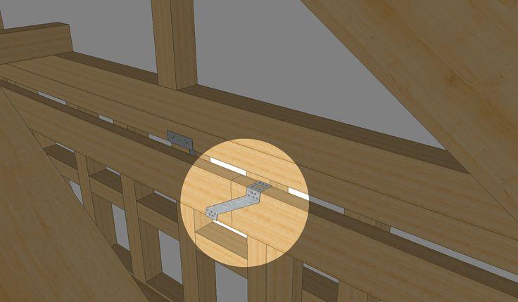 balken verbinden kreuzung mit einem gerberverbinder. Black Bedroom Furniture Sets. Home Design Ideas