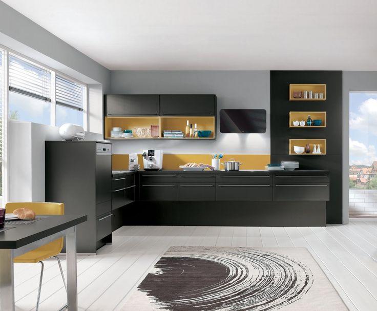 Modèle AvivA Diana Terra noir et niches coloris curry - Prix 4 690€ avec le pack Beko à 699€