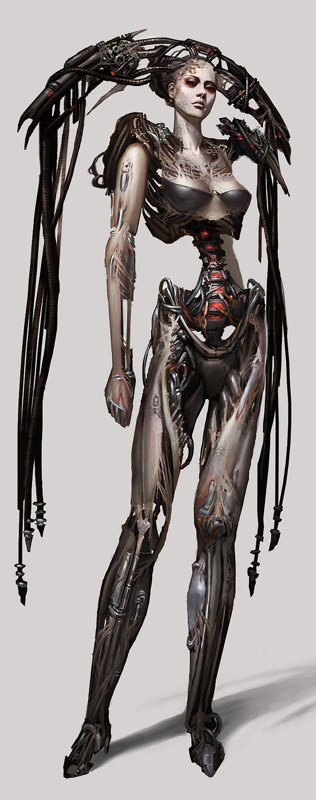 borg queen concept art for star trek online <3