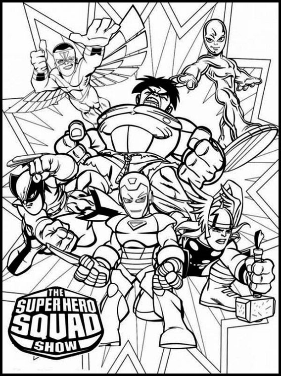 The Super Hero Squad 9 Printable Coloring Pages For Kids Superhero Coloring Pages Superhero Coloring Coloring Pages
