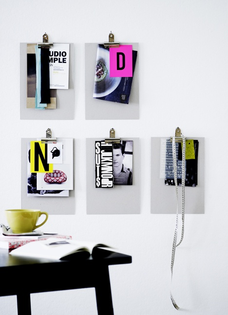 Another great clipboard-clips idea // clips from Tutein & Koch