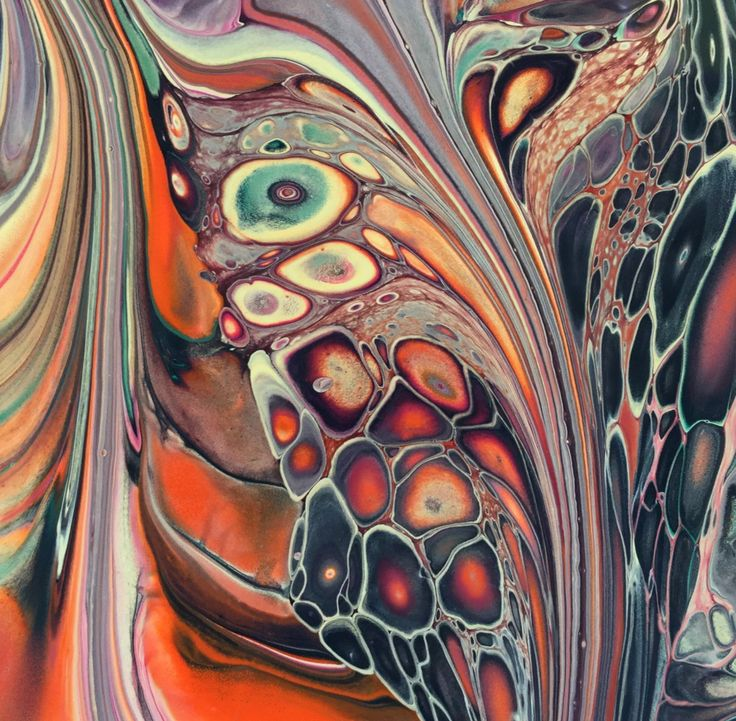 Earth's Riches Poured fluid acrylics exploring earth pigments by Nancy Wood http://www.nancywoodartanddesign.com