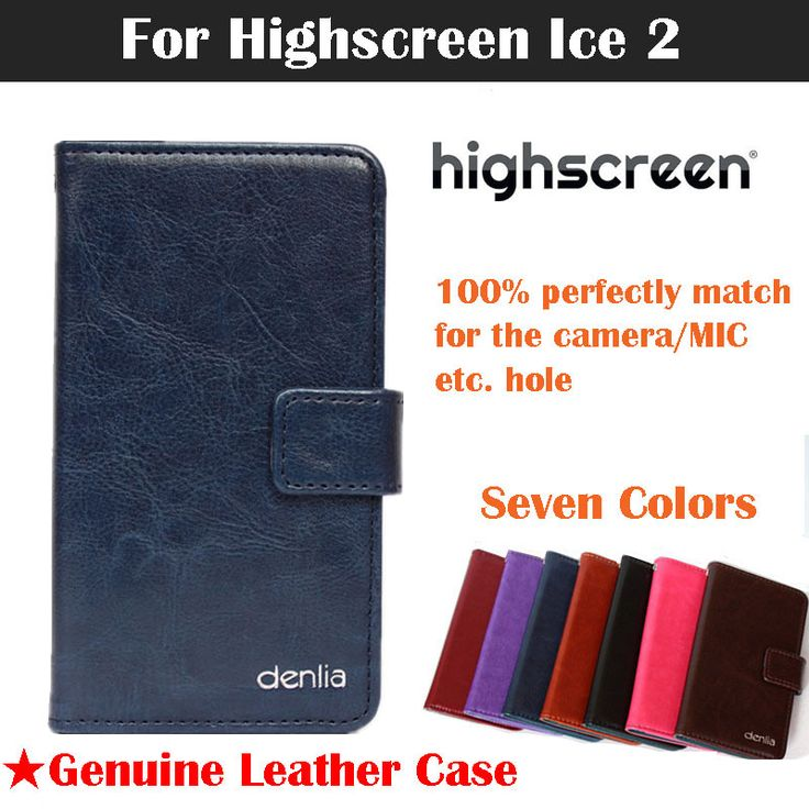 Highscreen Ice 2 Genuine leather case Flip Phone Case Cover For Highscreen Ice 2 Real skin Case Card Holder 7 Colors In Stock
