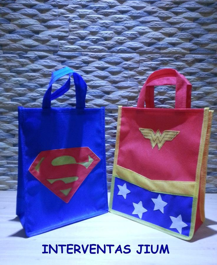 cotillones de superman y mujer maravilla