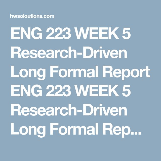 7 best ENG 223 images on Pinterest - formal report template word