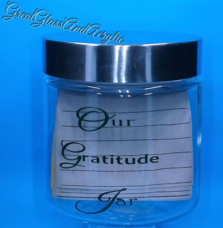 Gratitude Jar,Thankful Poems,Quotes On Thankfulness,Thanksgiving Thanks,Blessings Jar,Glass Jar,Silver Lid,Our Gratitude Jar by GreatGlassandAcrylic on Etsy