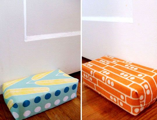 105 best images about brick door stops on pinterest for Door stop idea